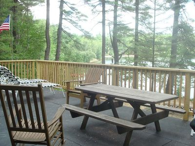 The patio deck has a Weber grill & picnic table