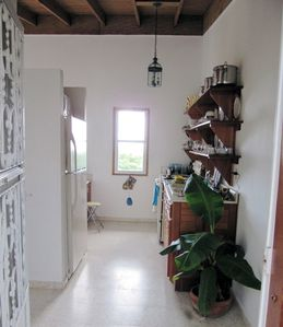 Vieques Island cottage rental - kitchen entrance