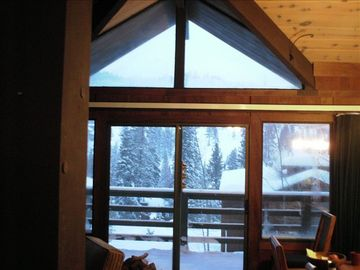 Alpine Meadows house rental - View from big window in living room