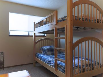 Downstairs bedroom 3 with a bunk bed for two children