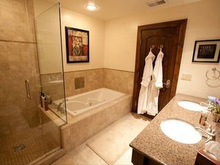 Avon condo photo - European shower and jaccuzi tub plus 2 cozy robes.