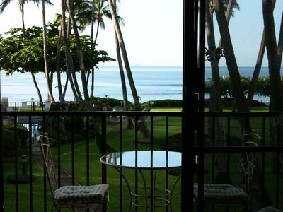 Ocean view from condo lanai. Whales play here in winter months.
