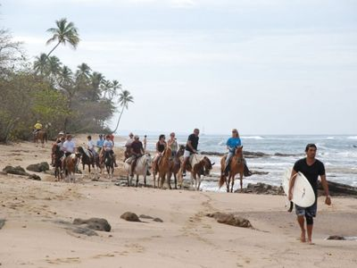 Horseback riding at Steps Beach