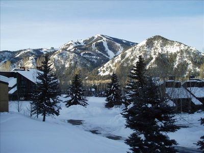 Gorgeous winter view of Bald Mountain from your private balcony