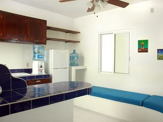Playa del Carmen condo photo - Kitchen with oven, microwave and everything you need...
