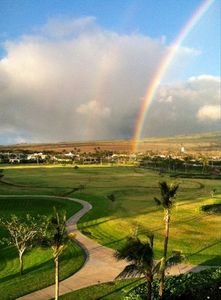 Eastern facing view from the lanai to the mountains - a rainbow nearly everyday
