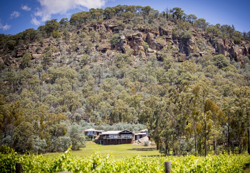 Milbrodale Lodge - rolling views over the vineyard