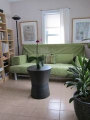 Ann Arbor house photo - Your cozy den doubles as a guest bedroom with the convertible queen size futon.
