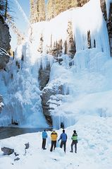 Canmore condo photo - Some amazing winter ice walking & hikes, this photo is at Johnson Canyon.