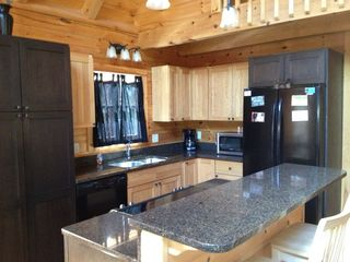 Harrison cabin photo - Gourmet kitchen with granite counters