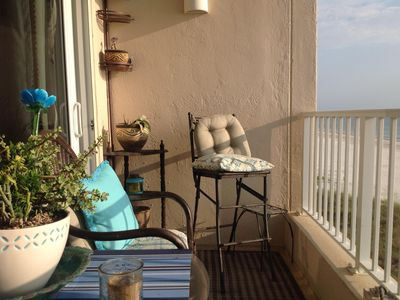 Oceanfront Balcony off Living Room