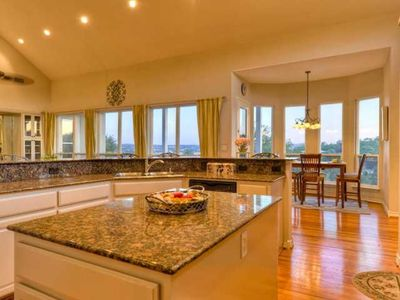 Full size kitchen with breathtaking views of the Lake!!