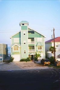 Texas beach house (roadside view)