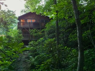 Swannanoa cabin photo - house from the woods