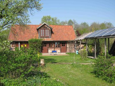 In a quiet village set-up on fantastic garden and forest area