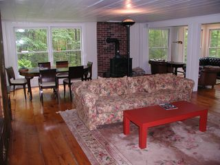 Kezar Lake cottage photo - Living/Dining Area #1