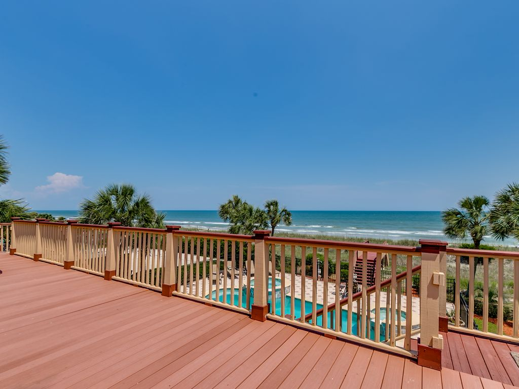 Oceanfront Myrtle Beach Home With Pool Jacuzzi Vrbo