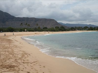Step Off Your Lanai and Onto Sand at Makaha Surfing Beach!