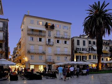 Corfu Town by night