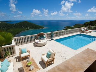 Cruz Bay villa photo - Stunning views from the expansive pool terrace.
