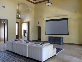 Lake Austin house photo - Large living room with projector and screen... great for movies and sports!