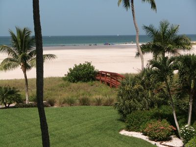 Beach/Gulf View/Front Marco Condo w/2/2 split floor plan.  Available now.