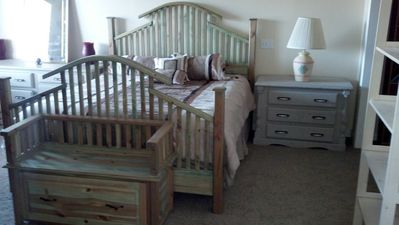 Master suite 2 with custom made bedframe