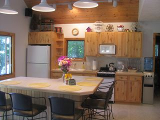 Interlochen cottage photo - Beautiful knotty maple cabinets