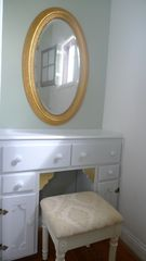 Los Angeles house photo - Master vanity mirror, original woodwork