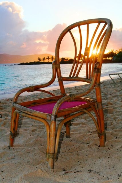 There is a chair on Sapphire Beach, just waiting for you