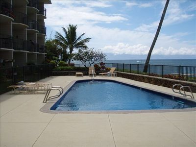 Kahana condo rental - VIEW OF HEATED SWIMMING POOL