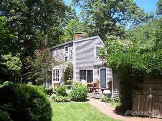 West Tisbury cottage photo - Rear of house