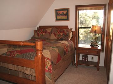 2nd bedroom upstairs with Queen mattress. Comfy bedrooms, all linens included!