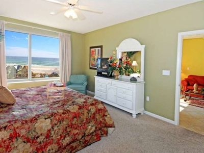 Enjoy view of beach from the Master Bedroom