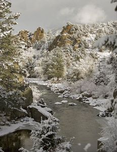 Winter Wonder in Peace and Privacy... view of our Arkansas river from our home