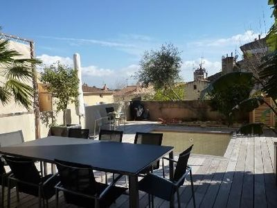 Quiet air-conditioned accommodation, 140 square meters, with pool