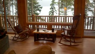 Gouldsboro cabin photo - Picture yourself enjoying your morning coffee while watching the lobster boats..