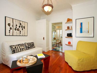 San Francisco apartment rental - Den; featuring local artists.