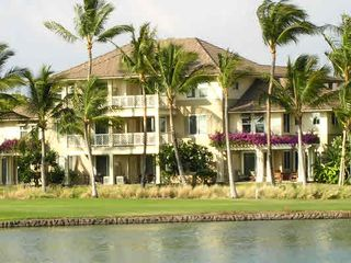 Waikoloa Beach Resort condo photo - The front of the Fairway Villas...from the King's Shops across the lake