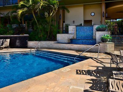 Kihei condo rental - Mana Kai Pool and Water Feature