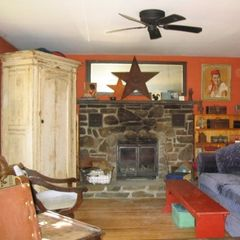 Margaretville house photo - Stargazer. living room fireplace/woodstove