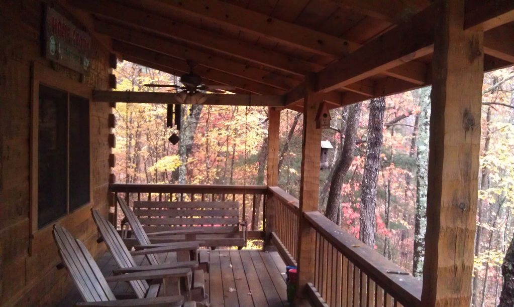Back Porch Overlooking Water. Relax for Hours Rocking Away with Family & Friends