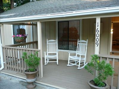 A great front porch for lounging or waking up to a cup of coffee and good book.