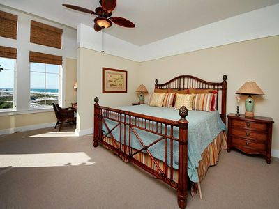 Master Bedroom - Compass Point II, 422 - Watersound, FL - King bed, jacuzzi tub, walk in shower, double vanity