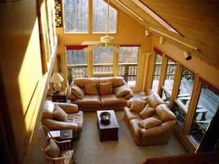Canaan Valley chalet photo - Great Room view from steps to Loft.