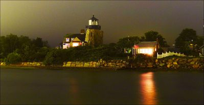 Gorgeous lighthouse view from Snug Harbor Marina
