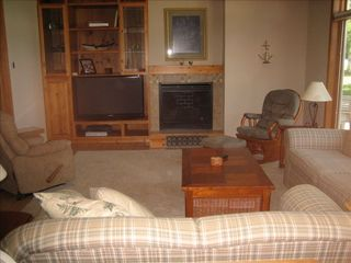Lake Leelanau house photo - Living area with 50' high definition television