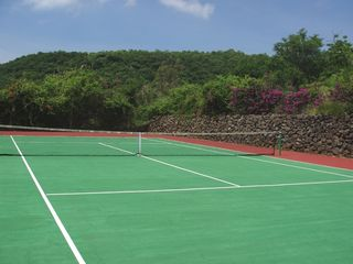 Tepoztlan estate photo - Regulation-sized tennis court has new surface!