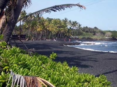 Black Sand Beach...just a short walk away.