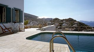 Hydra Island villa photo - Terrace and pool with amazing views